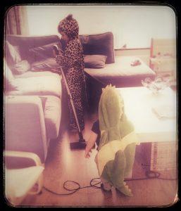Cheetah and dragon